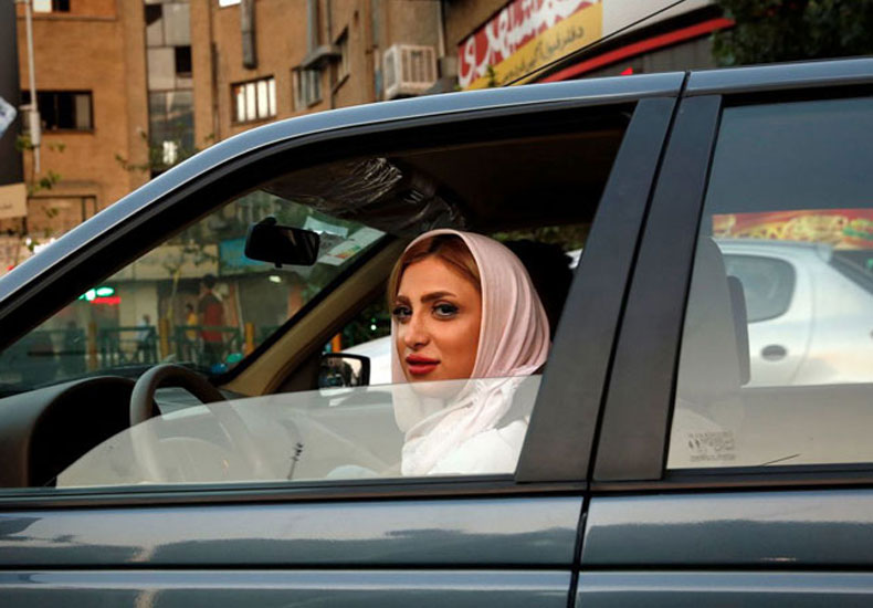 Women driver in iran